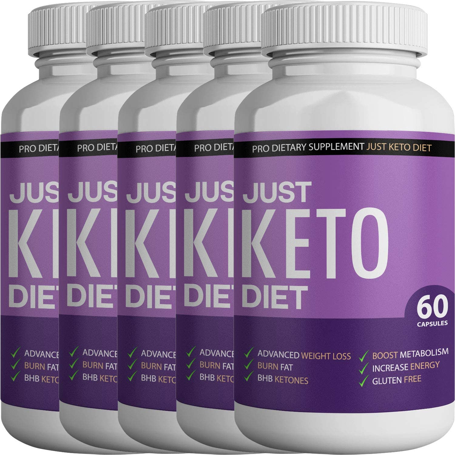 Just Keto Diet- Advanced Ketosis Weight Loss - Premium Keto Diet Pills - Burn Fat for Energy not Carbs (5 Month Supply)