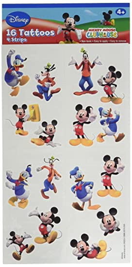 Disneys Mickey Mouse & Friends Party Supplies Tattoos 16ct Sheet ...