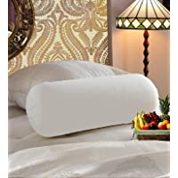 "JDX White Bed Pillow Bolster Having 1000 Grams Super Plush Reliance Gel-Fiber Filling Sized 23""x9"""