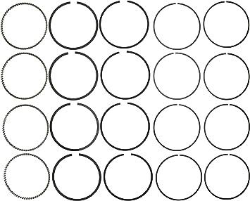 Hastings 2C4380 4-Cylinder Piston Ring Set