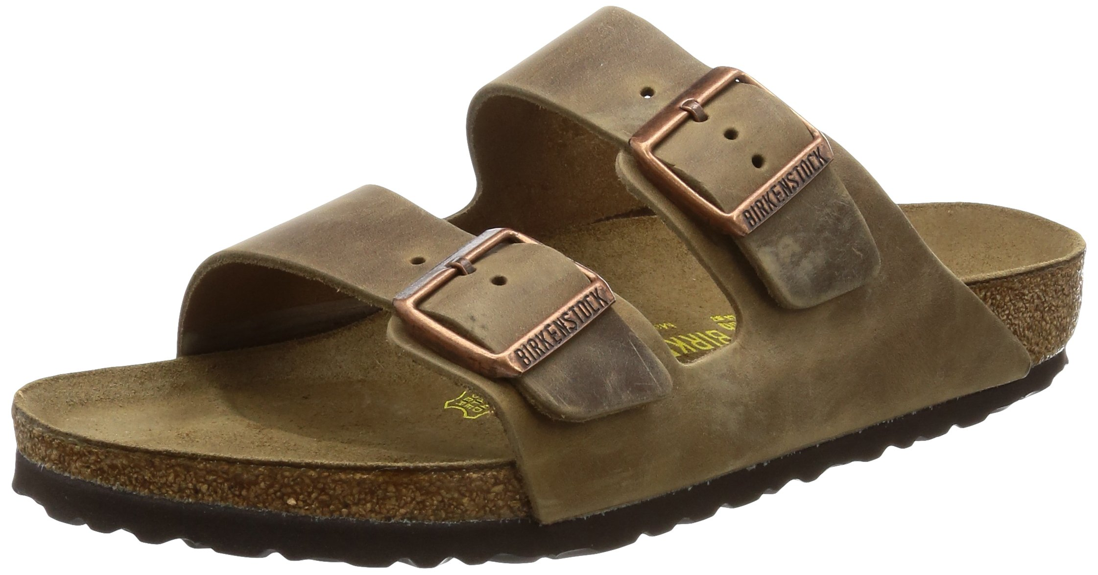 Birkenstock Unisex Arizona Sandal,Waxy Leather Tobacco Brown,40 M EU