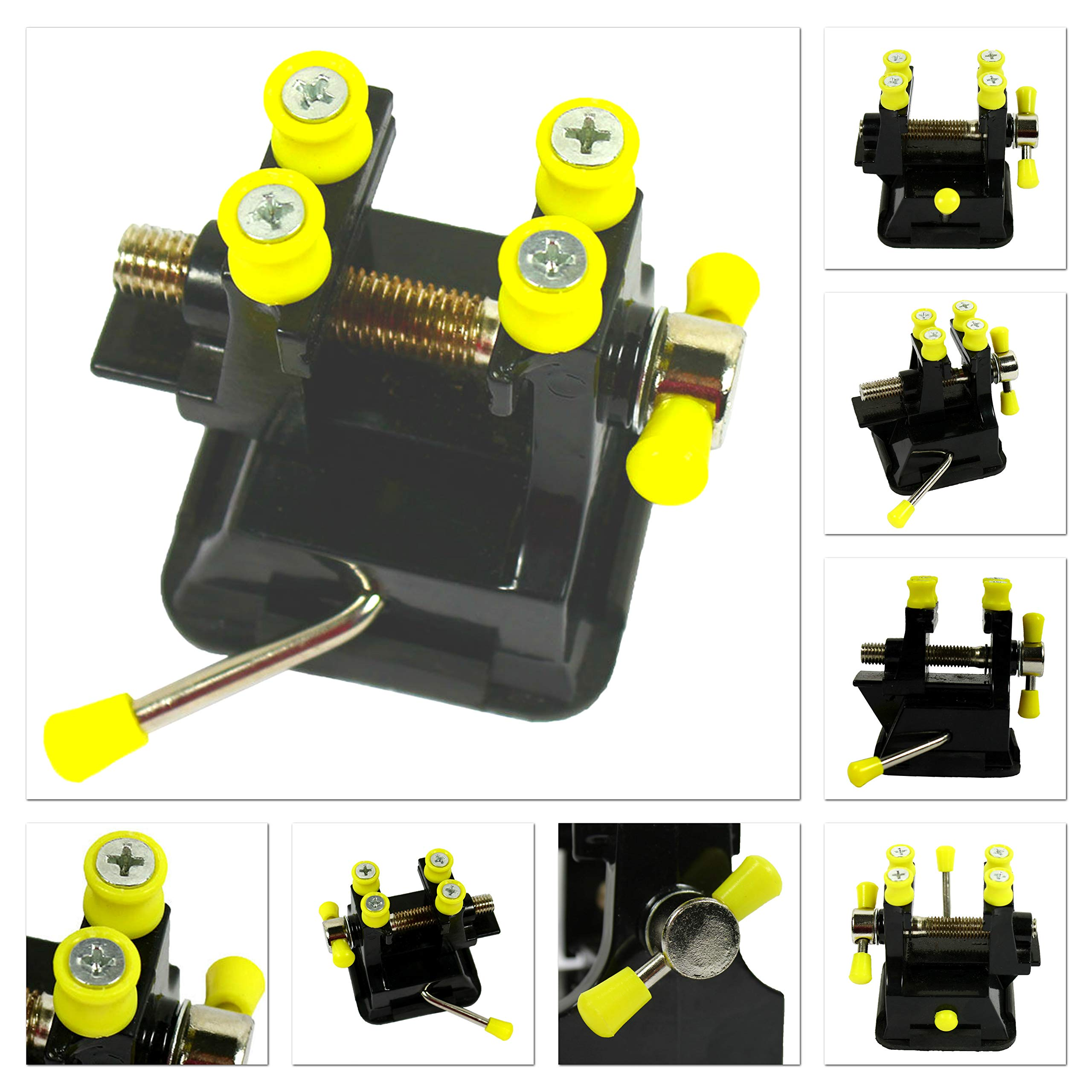 Miniature Vise Small Jewelers Hobby Clamp On Table Bench Tool Vice, Suction Cup Non-Scratching, DIY Jewelry Craft Model Repair By YOLO Stores