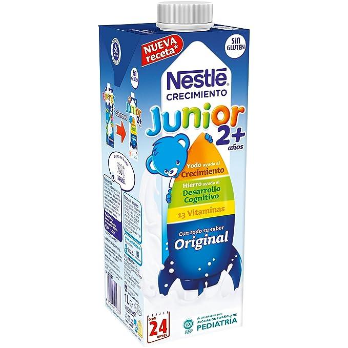 Nestlé Junior 2+ Original - Leche para niños a partir de 2 años - 6x1L, sin azúcar añadido ni aceite de palma: Amazon.es: Alimentación y bebidas