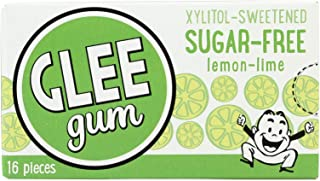 product image for Glee Gum Chewing Gum - Lemon Lime - Sugar Free - 16 Pieces - Case of 19
