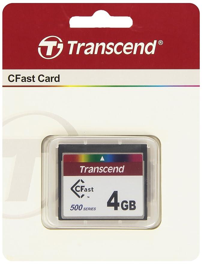 Amazon.com: Transcend ts4gcfx500 4 GB tarjeta tarjeta CFast ...