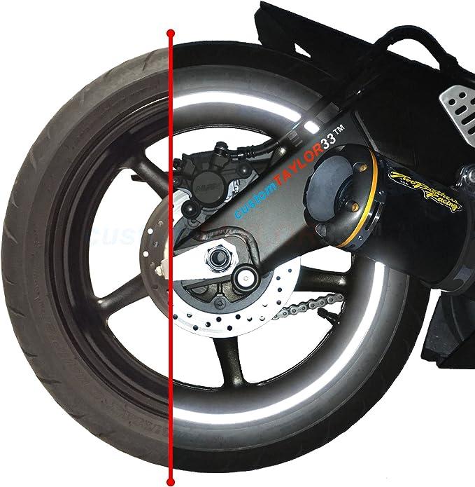16 Strips Motorcycle Car Sticker Auto Wheel Tire Reflective Rim Tape Vinyl Film`