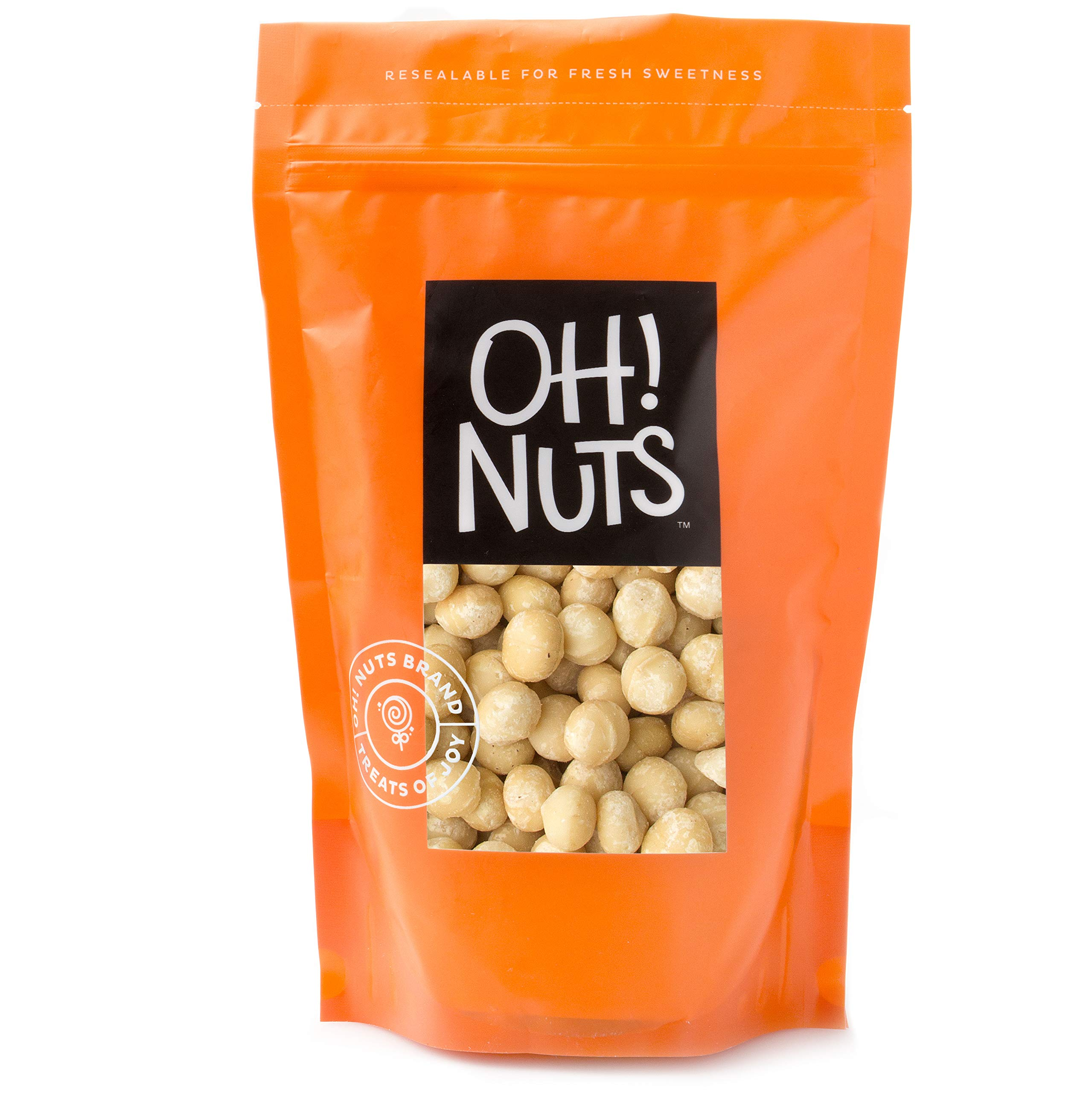 Macadamia Nuts Raw Unsalted - Large Hawaiian Raw Macadamias, Heart Healthy Snack 1 LB BAG - Oh! Nuts by oh! Nuts (Image #1)