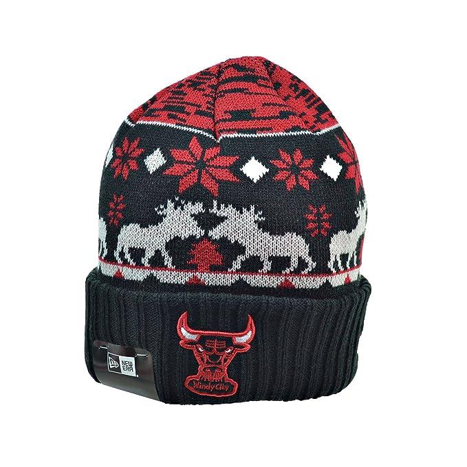 bb1d6e2ac88 Chicago Bulls New Era NBA Hardwood Classics  quot Team Mooser quot  Cuffed Knit  Hat