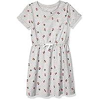 Amazon Essentials Girls' Short-Sleeve Elastic Waist T-Shirt Dress
