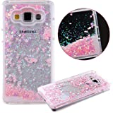 Galaxy Grand Prime Case,Creative Quicksand Flowing Liquid Dynamic Floating Bling Glitter Sparkle Love Heart Hard Case Back Cover for Samsung Galaxy Grand Prime G530