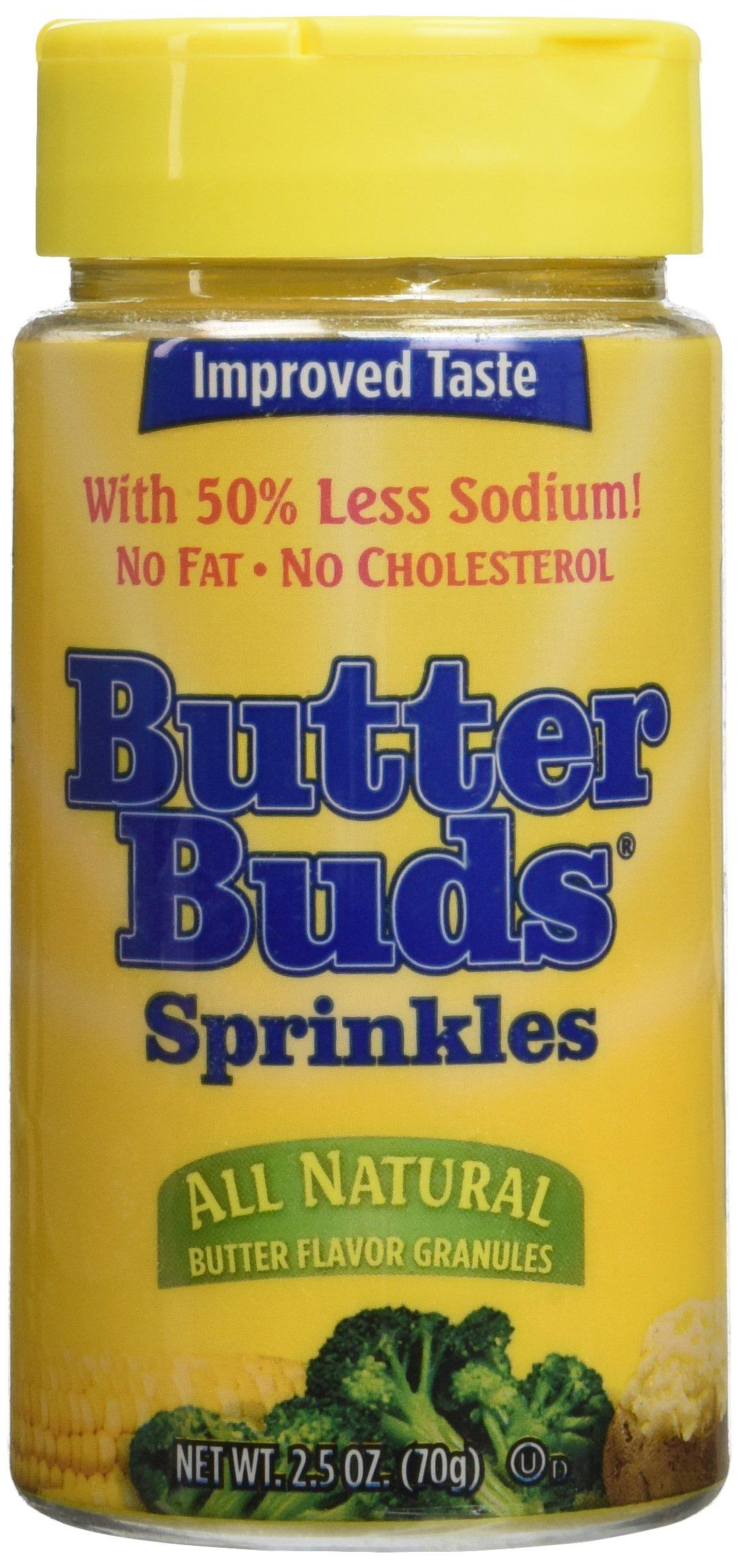 Butter Buds Butter Flavor Sprinkles Granules 2.5 Oz by Butterbuds