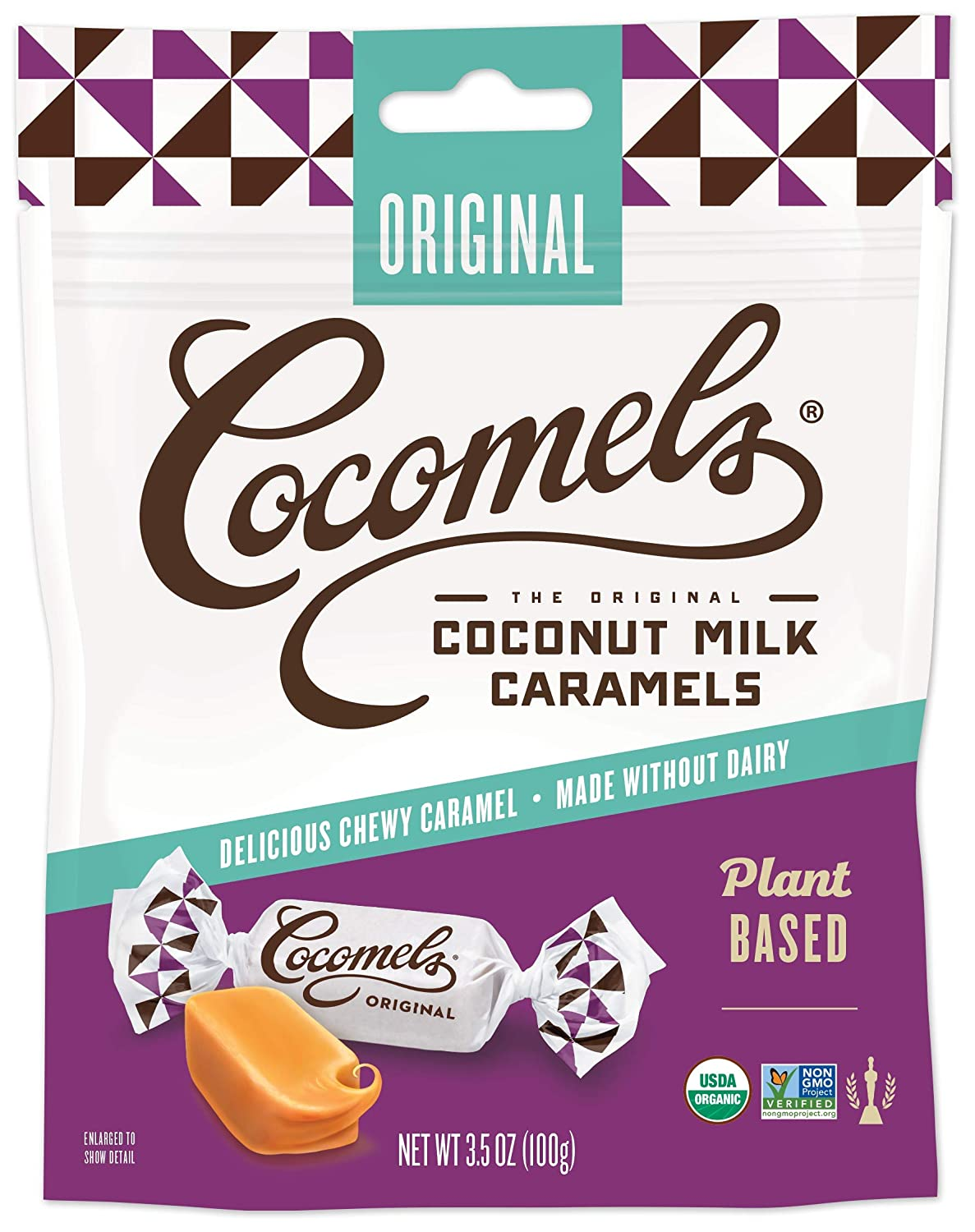 Cocomels Coconut Milk Caramels, Original Flavor, Organic Candy, Dairy Free, Vegan, Gluten Free, Non-GMO, No High Fructose Corn Syrup, Kosher, Plant Based,(1 Pack)
