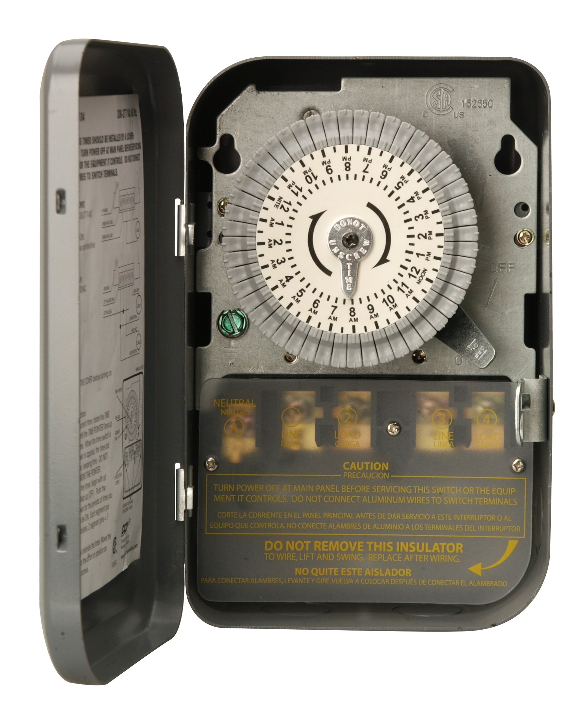 Woods 59104WD Indoor 24-Hour Heavy Duty Mechanical Time Switch, 208/277V 40A DPST by Woods