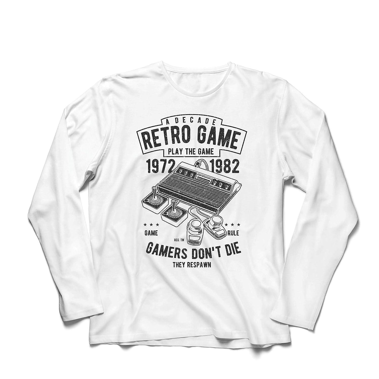 Ellos reaparecen Los Jugadores no Mueren lepni.me Camiseta de Manga Larga para Hombre D/écada de Juegos Retro