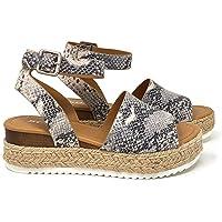 207759b4a8c Amazon Best Sellers  Best Women s Platform   Wedge Sandals