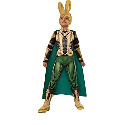 Avengers Assemble Loki Deluxe Costume, Child's Medium: Toys & Games