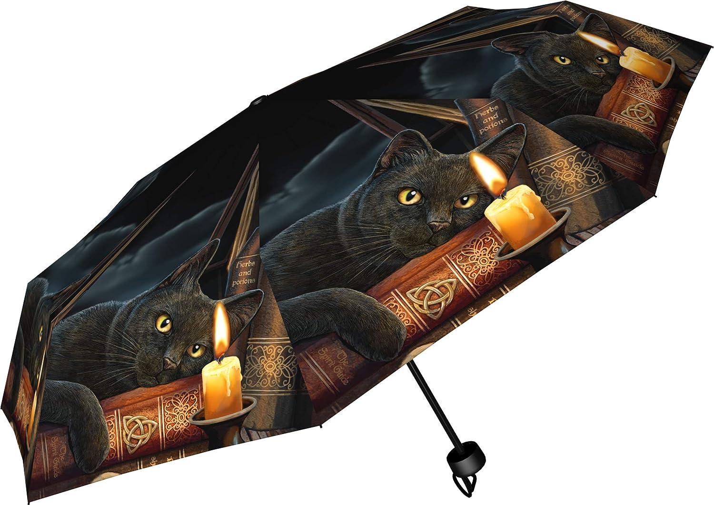 Metal One Size Plastic Nemesis Now Witching Hour Lisa Parker Umbrella 24cm Black 190T Pongee