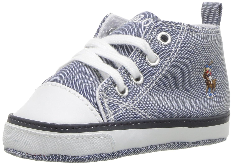 100% huippulaatua laaja valikoima valtuutettu sivusto Polo Ralph Lauren Kids Girls' Hamptyn Hi Crib Shoe, Lt Blue ...