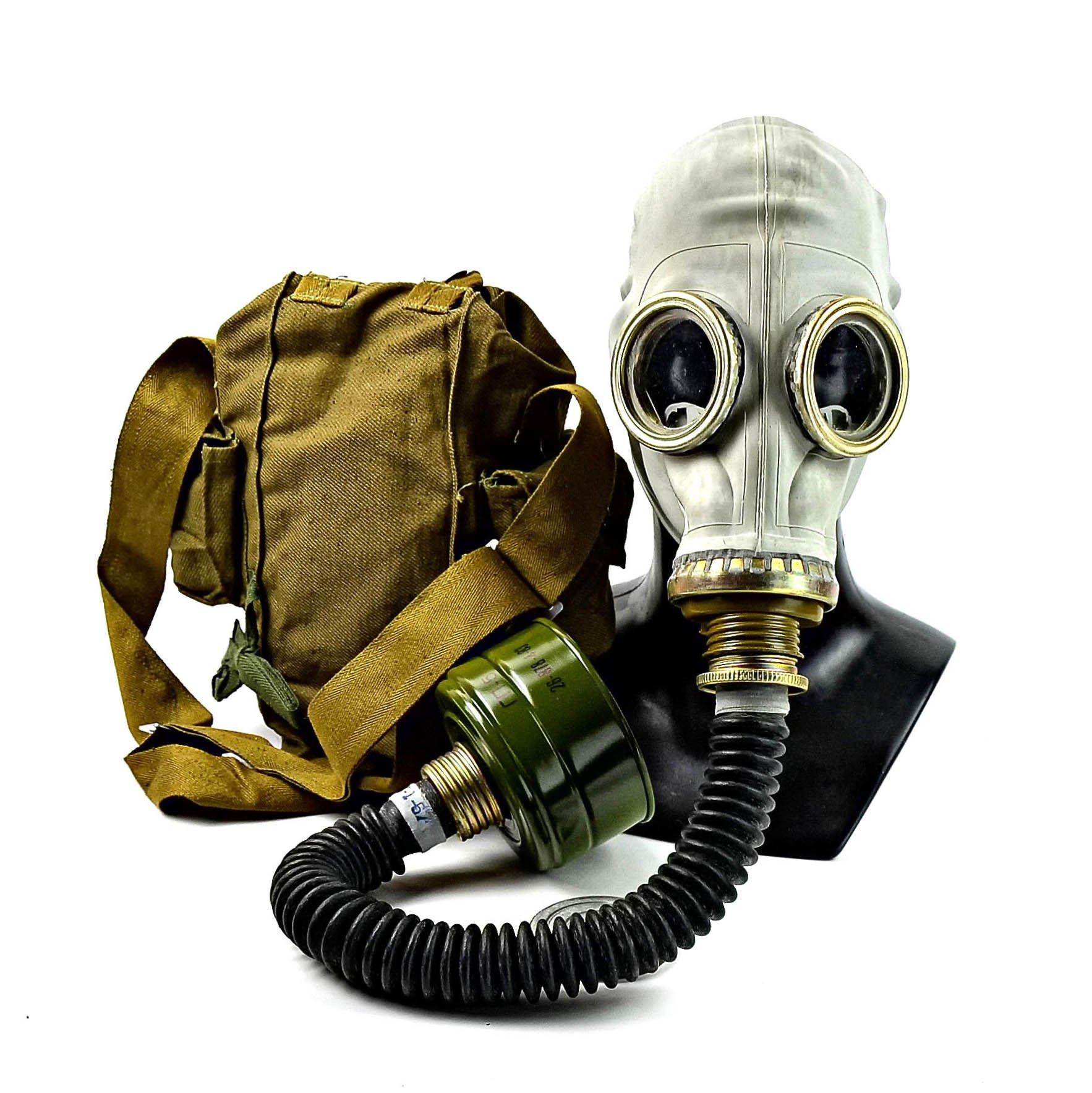Genuine Original Soviet Russian gas mask GP-5 with black hose Surplus USSR face mask (Medium)