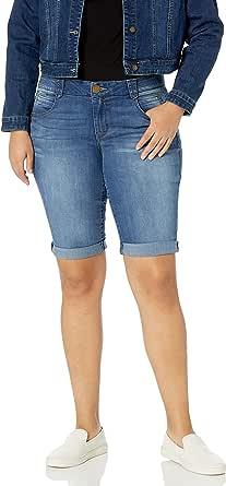 Democracy Womens WBB810NC Plus Size 13 Inch (15 Uncuffed) Ab Solution Short Shorts