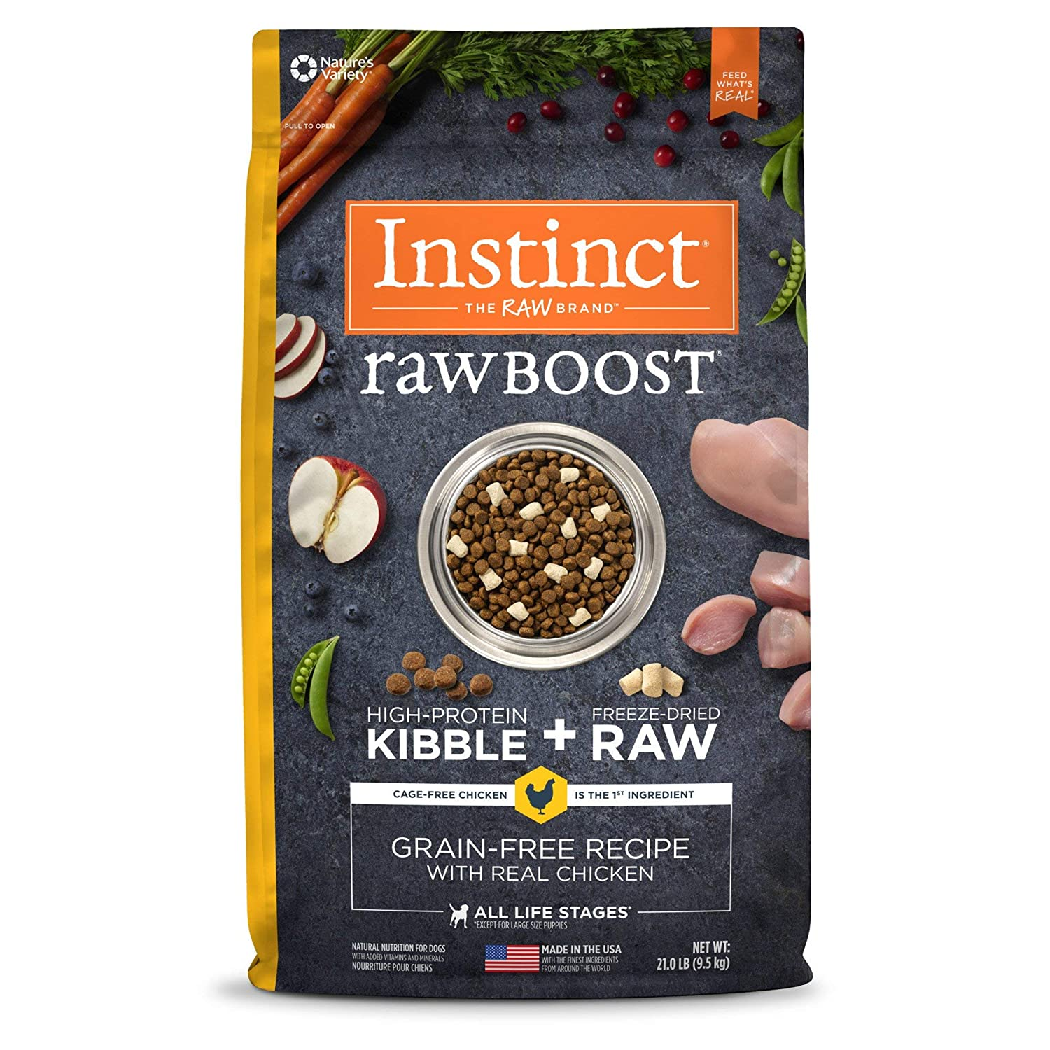 2.Instinct Raw Boost Grain-Free Recipe Natural Dry Dog Food