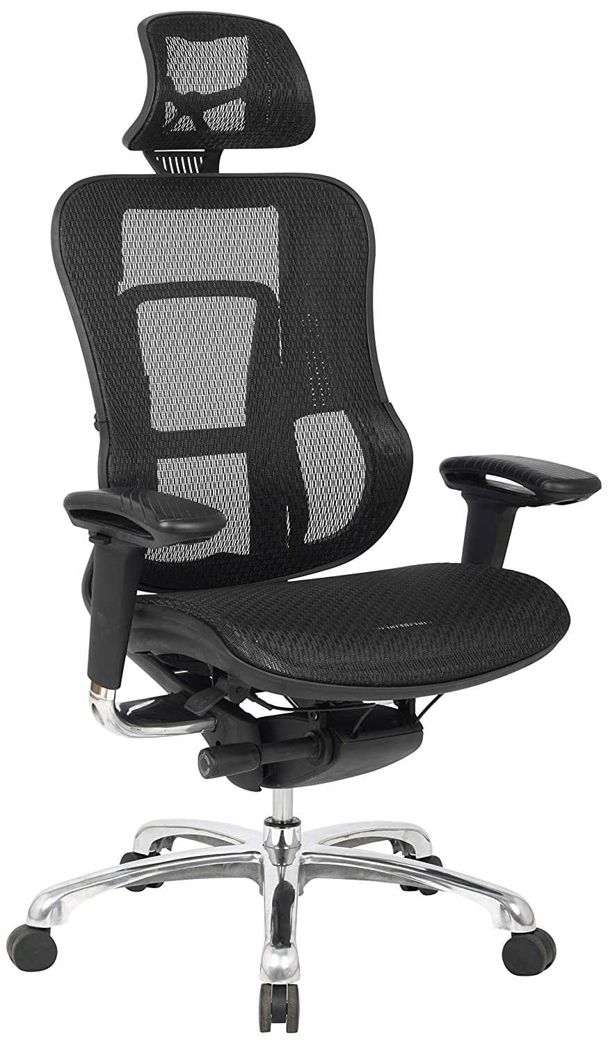 Eliza Tinsley Furniture Azteken Konturierte Mesh Executive Sessel, schwarz