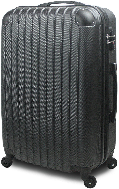 スーツケース キャリーバッグ 超軽量 大型 Lサイズ TSA搭載 FS2000 ダブルファスナー B0719J6JGB 大型 Lサイズ 7~14泊用|ガンメタル ガンメタル 大型 Lサイズ 7~14泊用