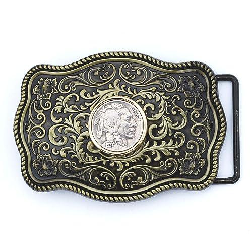 Buffalo Nickel Silver Tone Belt Buckle