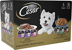 Cesar Classics Adult Wet Dog Food 3.5Oz Trays