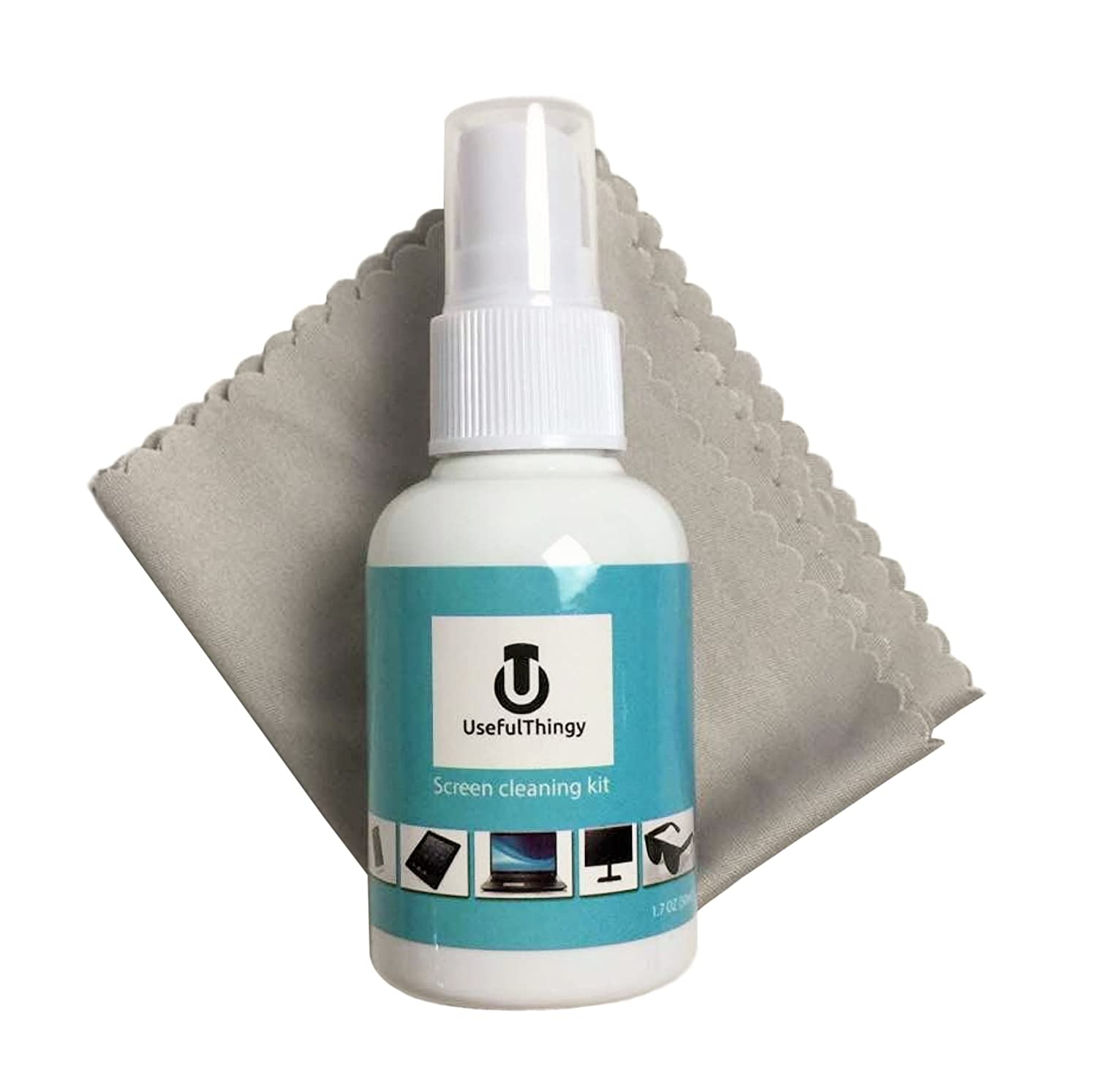 Best For Laptop, LED LCD TV, Smartphone, iPad, Computer, Kindle, Touch  Screens Eyeglass. 1 Cleaning Spray + 1 Microfiber Polishing Cloth.