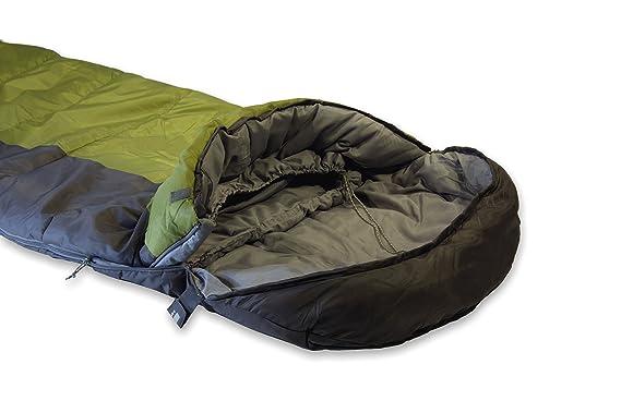 High Peak Saco de Dormir, Schlafsack TR 300, Dunkelgrau/Oliv, 23019, Verde Gris, 230 x 85/55 cm: Amazon.es: Deportes y aire libre