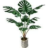 "WANGYANG Artificial Monstera Deliciosa Plants 34"" Tropical Realistic Fake Plants,Faux Palm Plants Tree Décor Indoor Outdoor P"