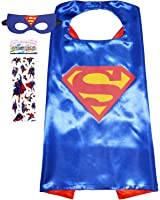 Funhall Superhero Costume and Dress Up for Kids - Satin Cape and Felt Mask