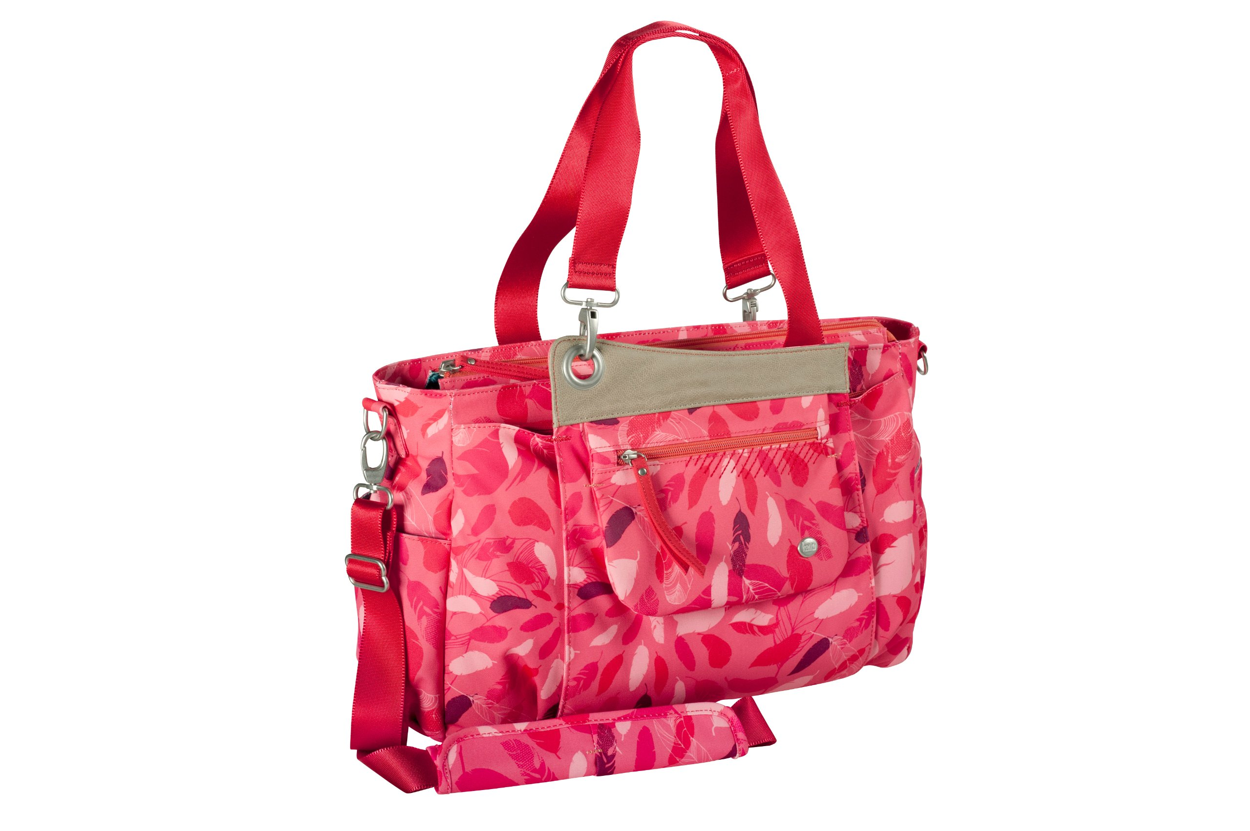 Haiku Women's Work Horse Eco Tote Bag, Coral Feather Print
