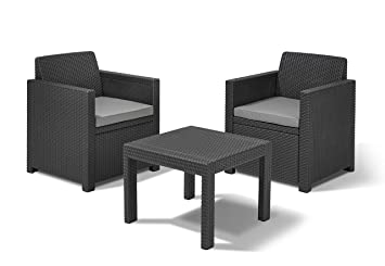 ALLIBERT Allegro Balcony Salon de jardin avec 2 fauteuils et 1 table ...