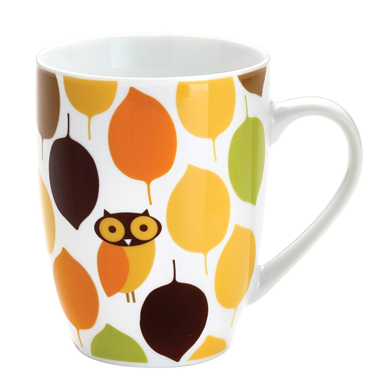 Amazon.com: Rachael Ray Dinnerware Little Hoot 4-Piece Porcelain ...