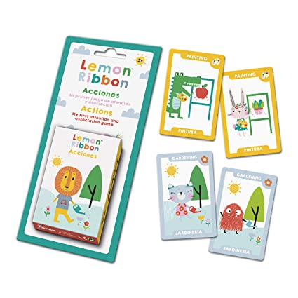 Fournier- Lemon Ribbon Accion. Mi Primer Juego de Atención y Asociación. Baraja Infantil Educativa, Color Multiple (1044174)