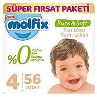 Molfix Pure&Soft Bebek Bezi, 4 Beden, 56 Adet
