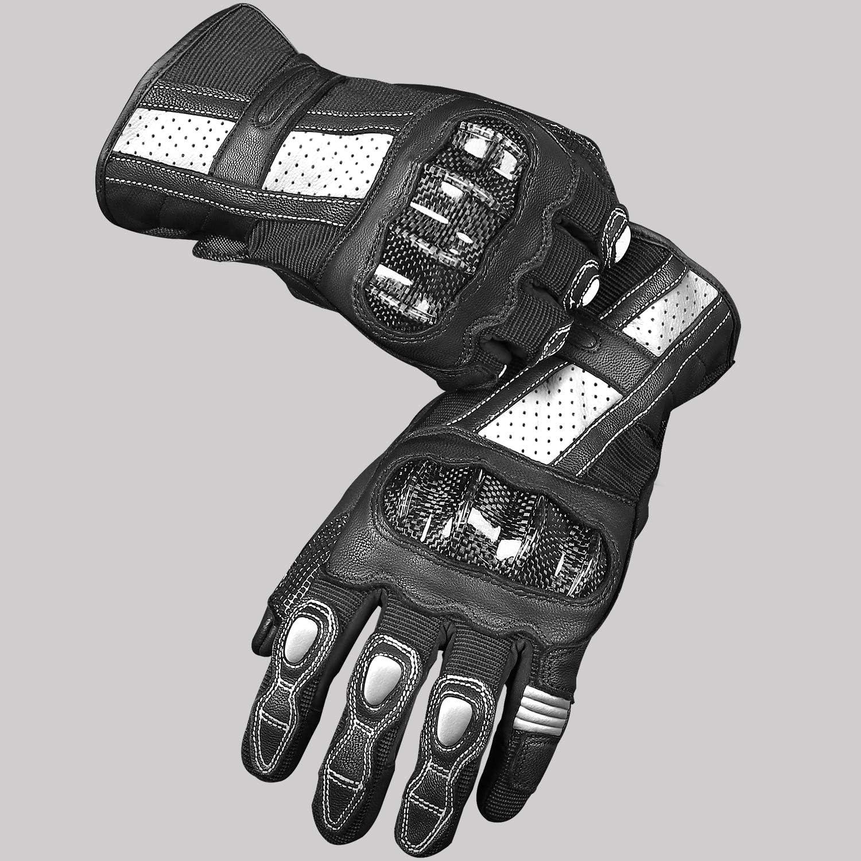 INBIKE Guanti da Moto Estivi Pelle di Capra Touchscreen Antiscivolo Traspiranti Uomo per Estate e Autunno IM19810