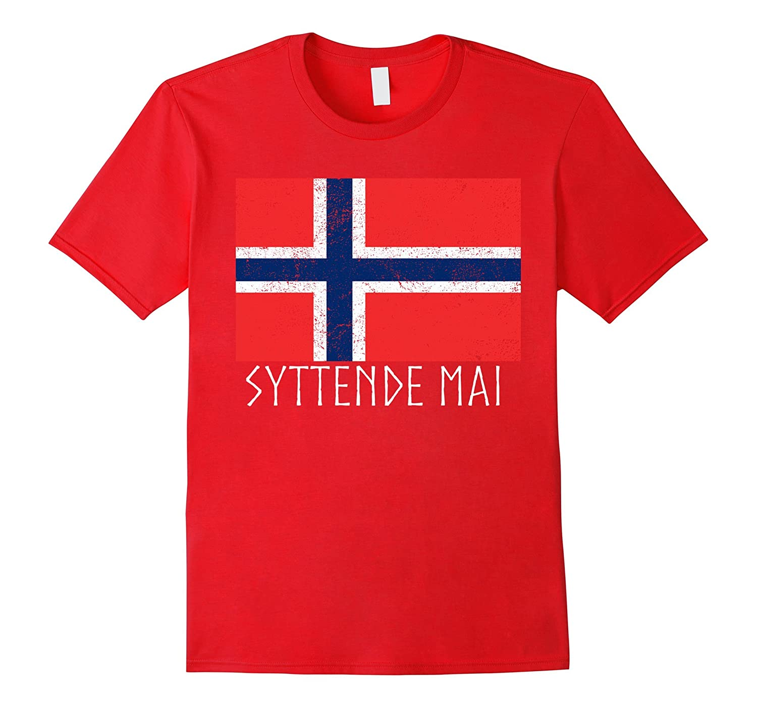 Syttende Mai Norwegian Flag Holiday T-Shirt-Art