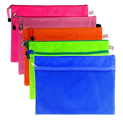 12Pcs Waterproof A4 File Storage Zipper Bags Document Folder Holder Pouch Wallet