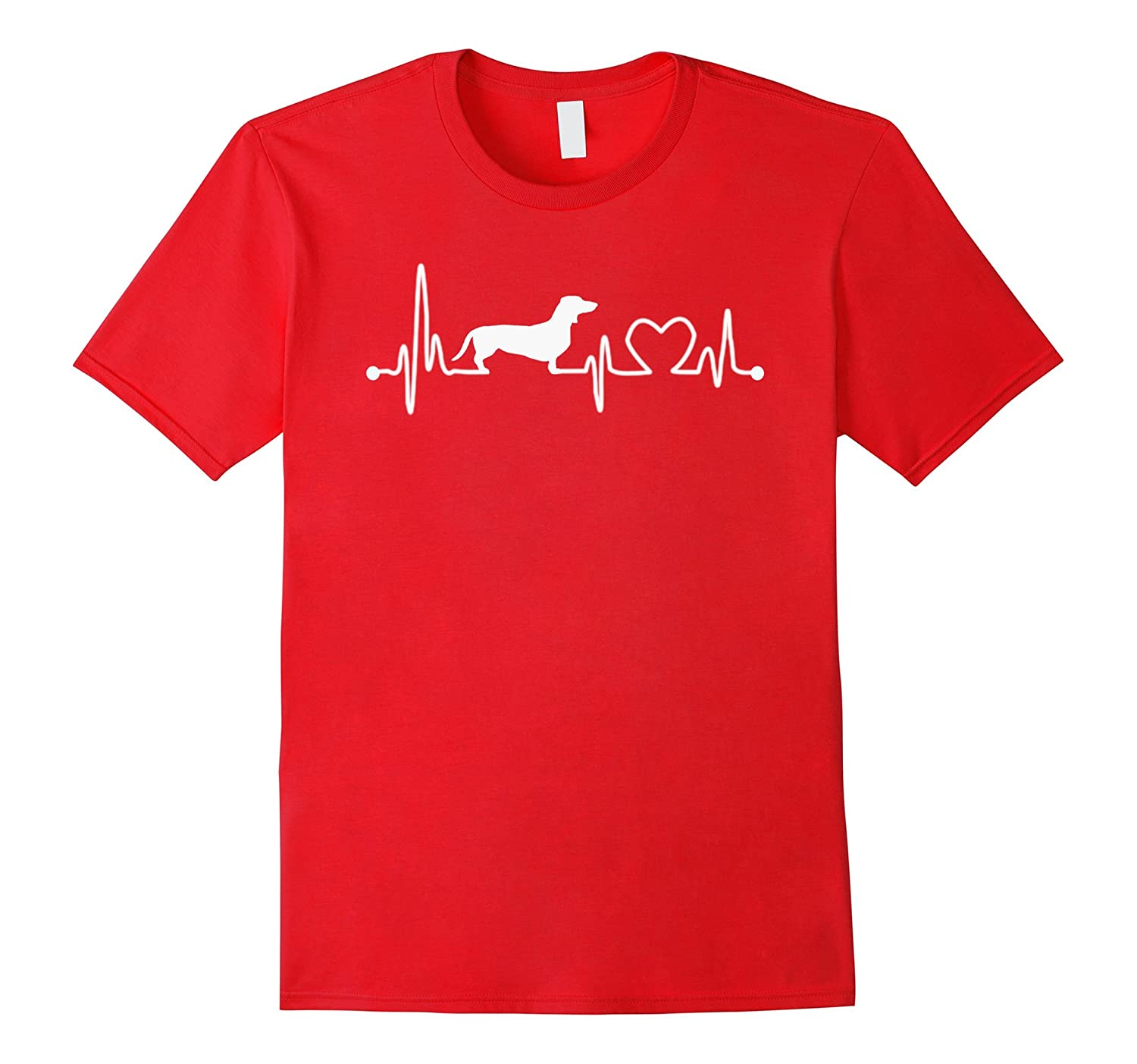 Heart Beat Dachshund Shirt-TH