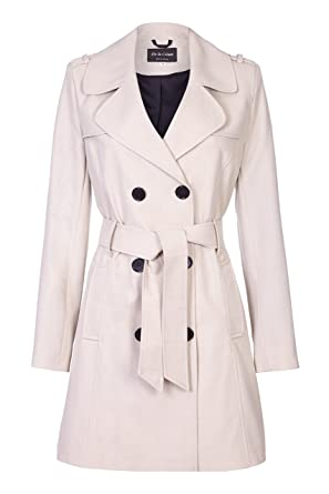 heißer Verkauf online online zu verkaufen Schnäppchen für Mode Amazon.com: De la Creme - Beige Womens Spring Tie Belted ...