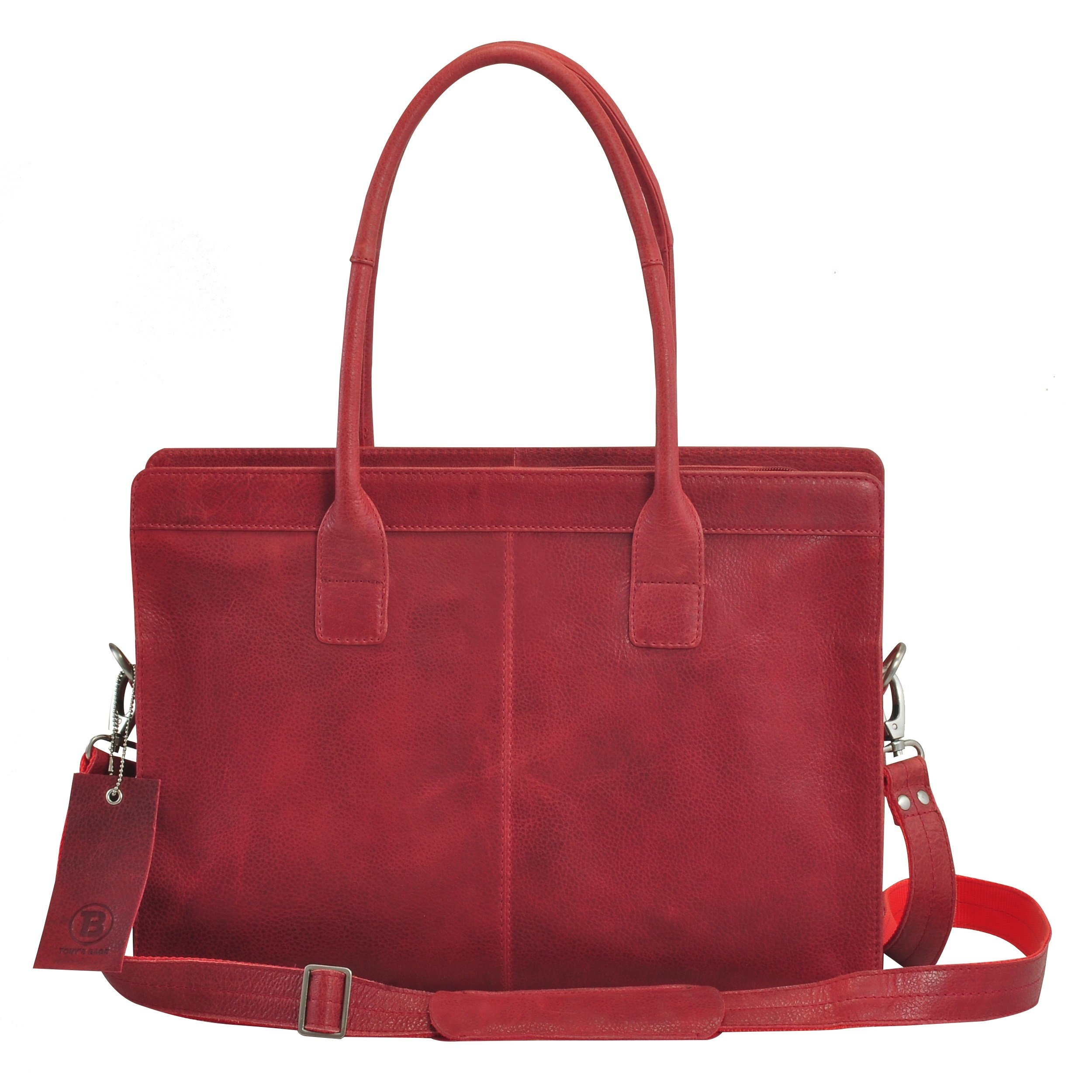Tony's Over-Sized Laptop Bag - Vintage Crunch Leather - Ladies Helena Bags