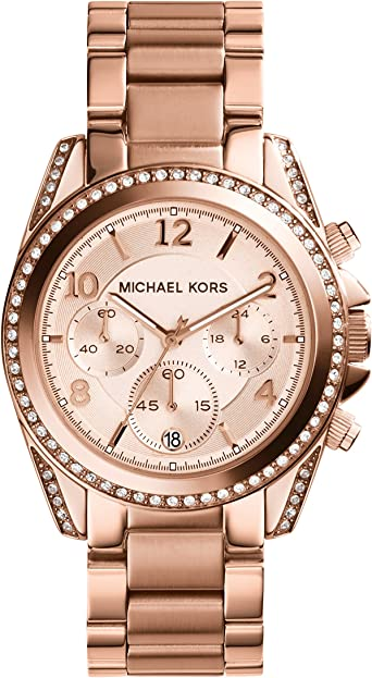Michael Kors Reloj Cronógrafo para Mujer de Cuarzo con Correa en Acero Inoxidable MK5263: Michael Kors: Amazon.es: Relojes