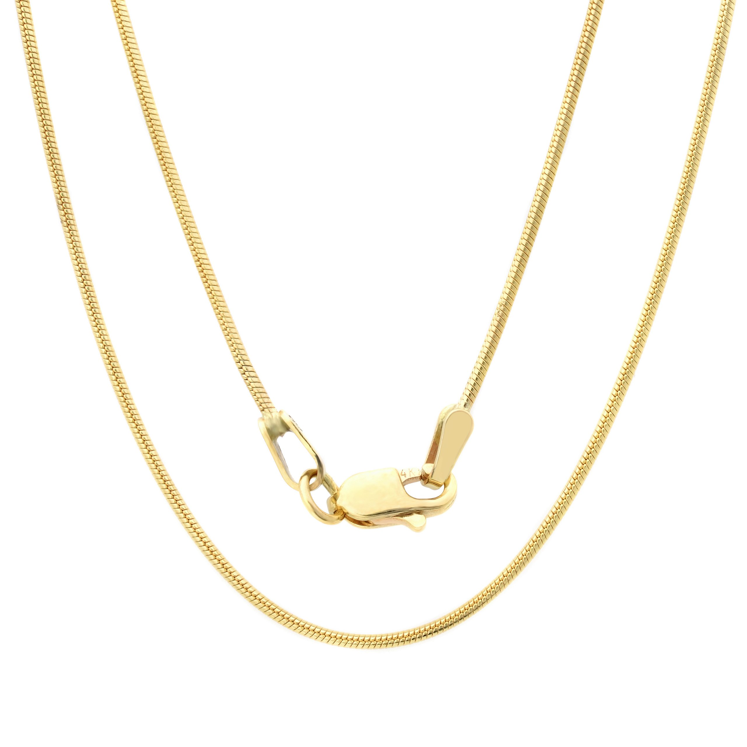 14k Yellow-gold .80 mm Snake Chain, 20 Inch by Roberto Martinez