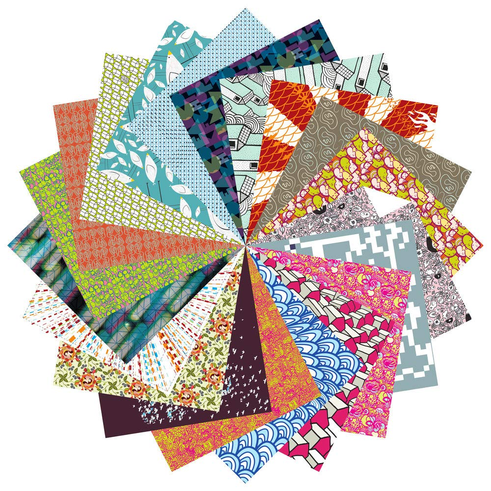 Origami Paper Gift Set | 200 Sheets, 6'' Square | Designer Patterns Complete Collection by folded square