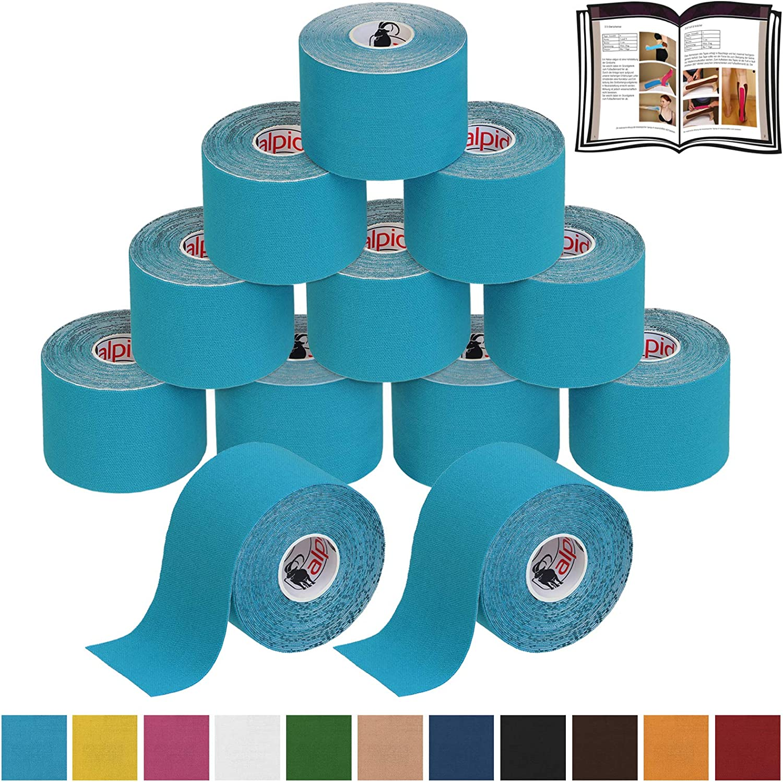 BB Sport 12 Rollos Cinta Kinesiología Tape 5 m x 5 cm