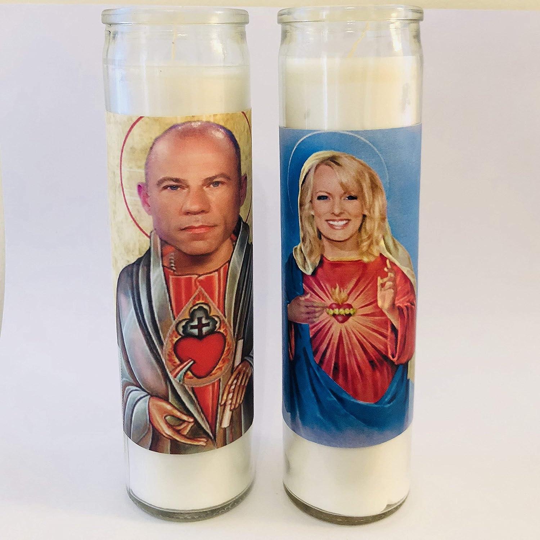 Saint Stormy Daniels Prayer Candle Celebrity Parody