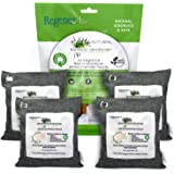Regenerair 4 x 500g Air Purifying Bags 100% Activated Bamboo Charcoal Deodorizer Odor Eliminator for Kitchens Bedrooms Bathrooms Cars Basements Pet Areas & Shoes